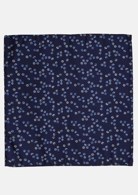 Blue Jacquard Pocket Square