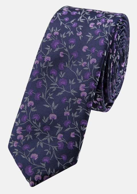 Lilac Jacquard 5cm Tie