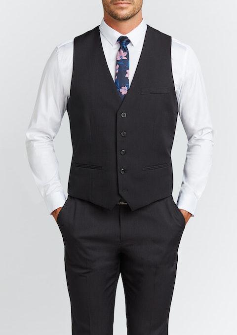 Smoke Diamond Stretch Waistcoat