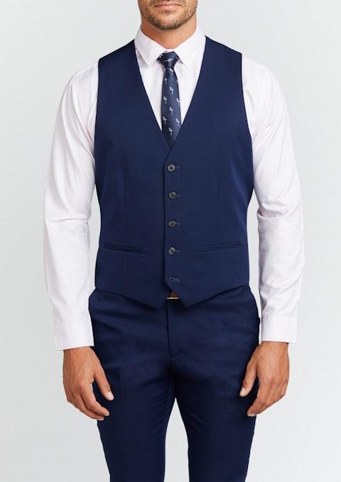 Blue Diamond Stretch Waistcoat