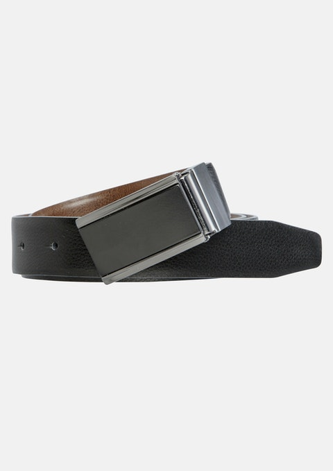 Black Brown Ranger Reversible Belt