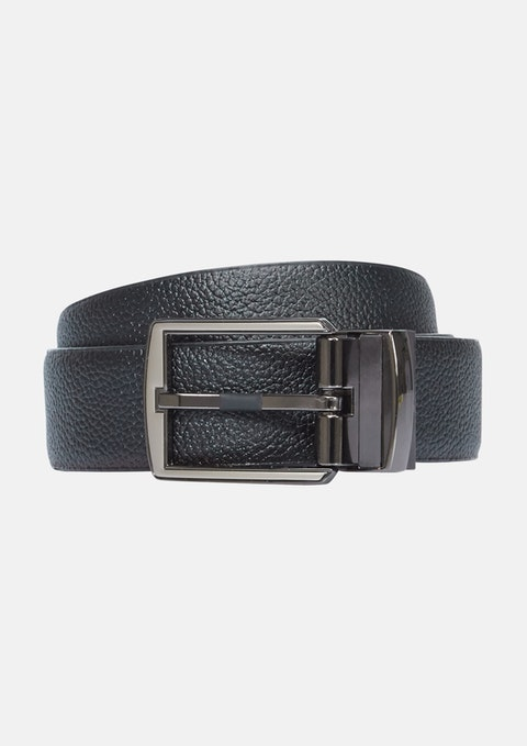 Black Tan Percy Reverisible Belt