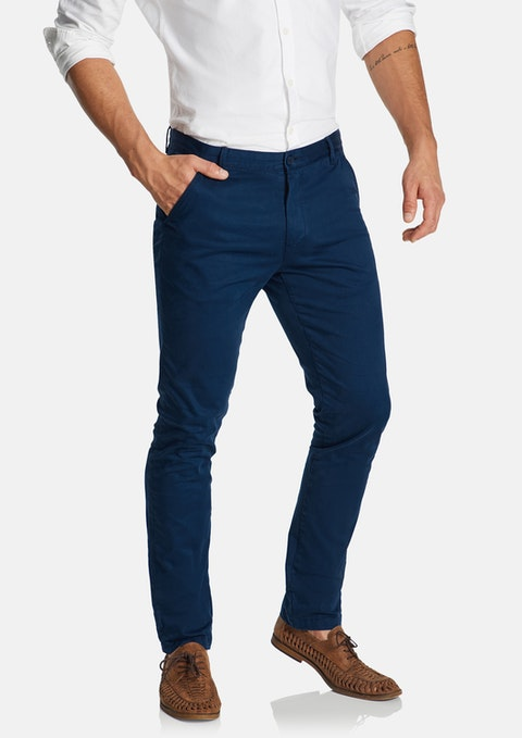 Dark Blue Platinum Slim Stretch Chino