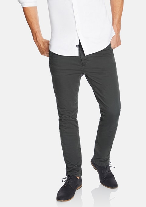 Gunmetal Platinum Slim Stretch Chino