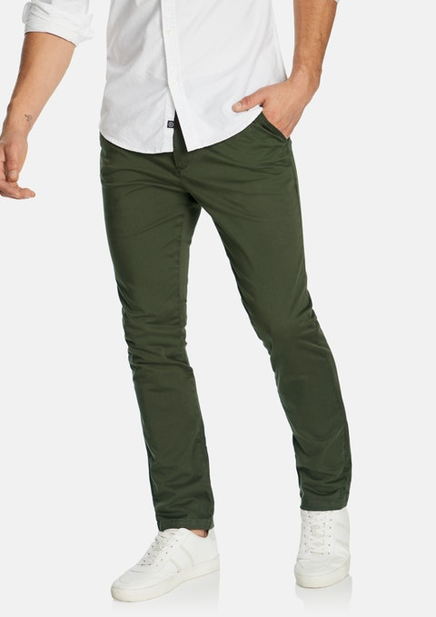 Khaki Platinum Slim Stretch Chino