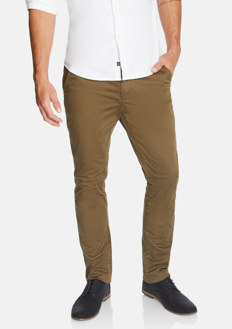 Mocha Platinum Slim Stretch Chino