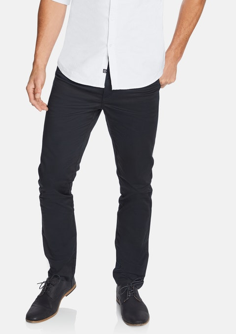 Black Milton Stretch Slim Pant