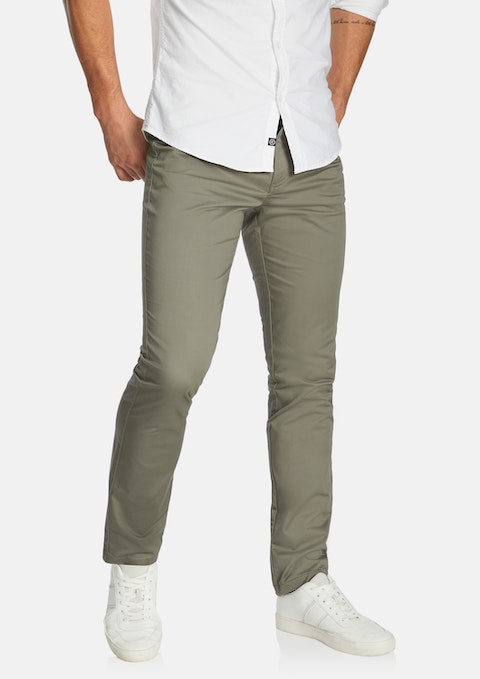 Grey Milton Stretch Slim Pant