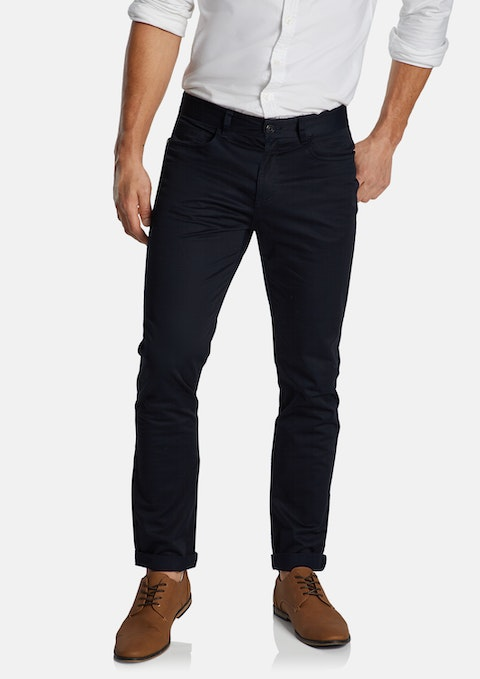 Navy Milton Stretch Slim Pant