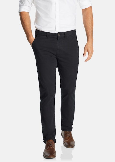 Black Lochlan Tapered Stretch Chino