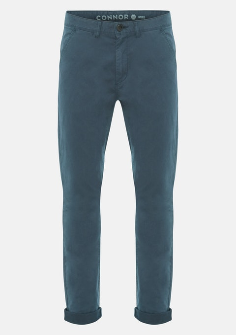 Blue Lochlan Tapered Stretch Chino