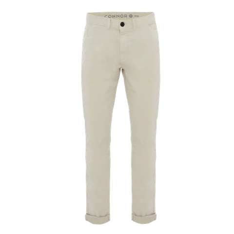 Sand Lochlan Tapered Stretch Chino by Connor