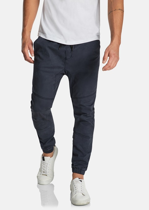 Blue Addison Cuffed Stretch Chino