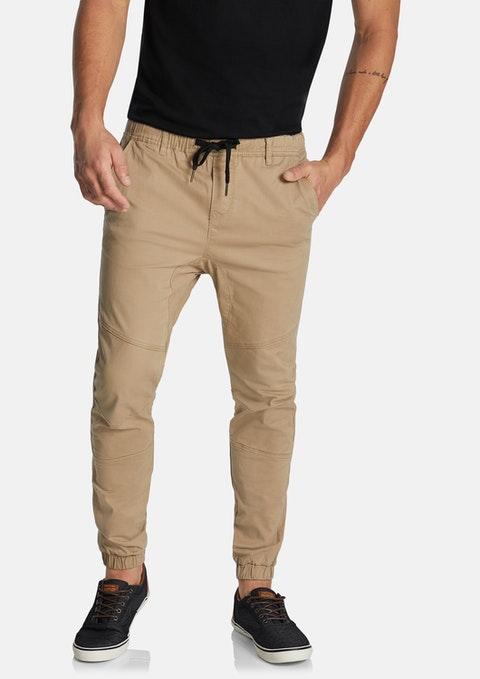 Tobacco Addison Cuffed Stretch Chino