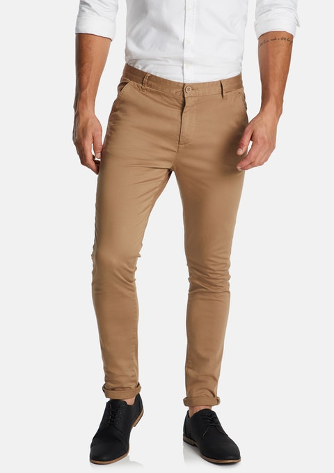 Tobacco Pattinson Stretch Skinny Chino