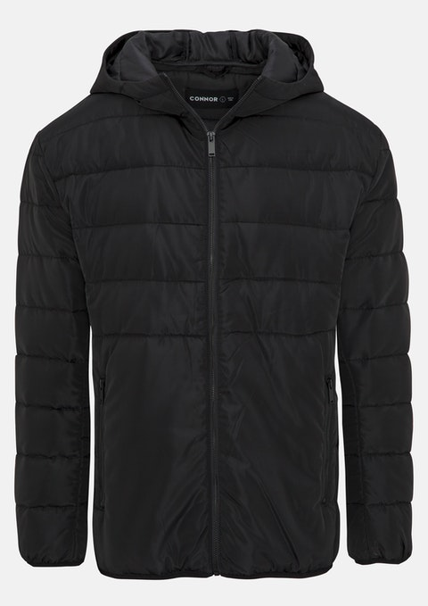 Black Hodge Puffer Jacket
