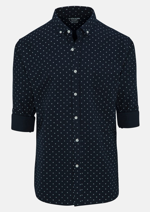 Navy Medal Casual Shirt