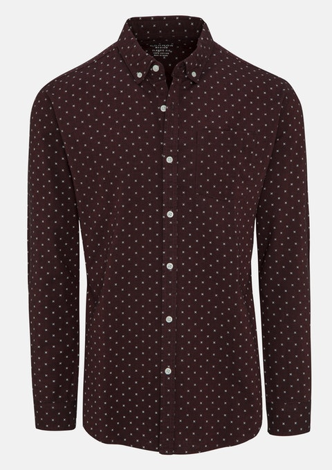 Wine Medal Casual Shirt