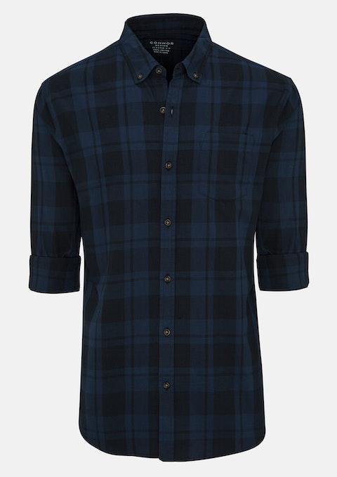 Dark Blue Michael Casual Shirt