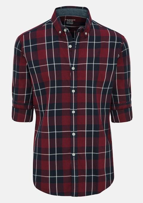 Wine Philip Slim Casual Shirt