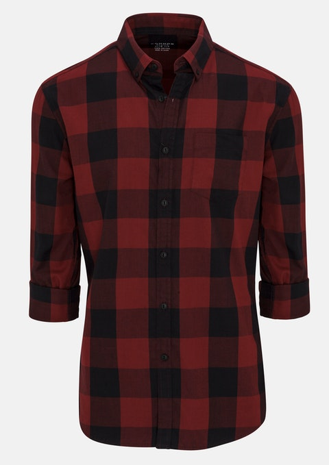 Red Nick Slim Casual Shirt