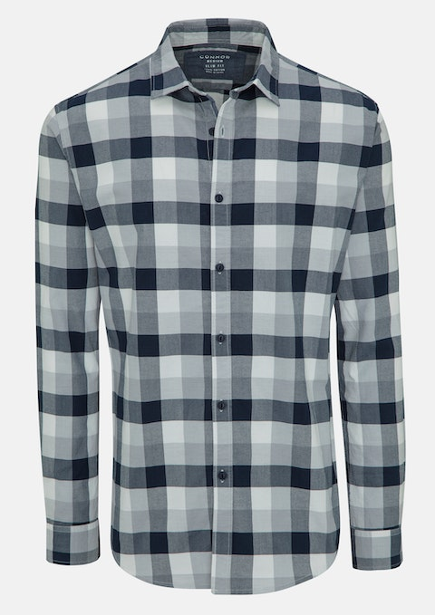 Blue Rigby Slim Casual Shirt