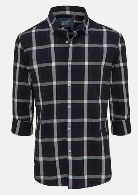 Navy Sam Slim Casual Shirt