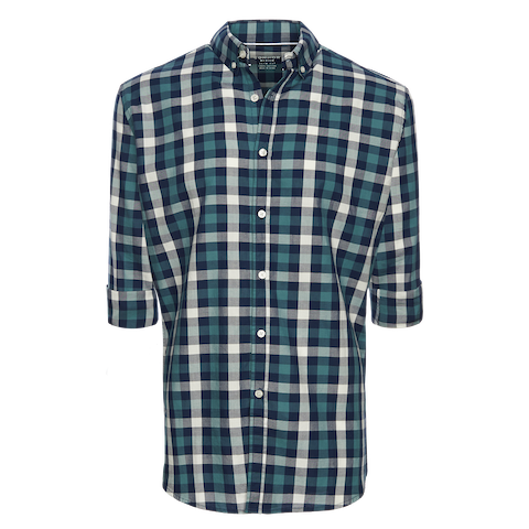 Green Otis Slim Casual Shirt by Connor