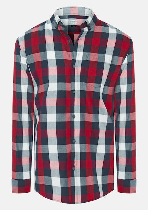 Red Roxby Slim Casual Shirt