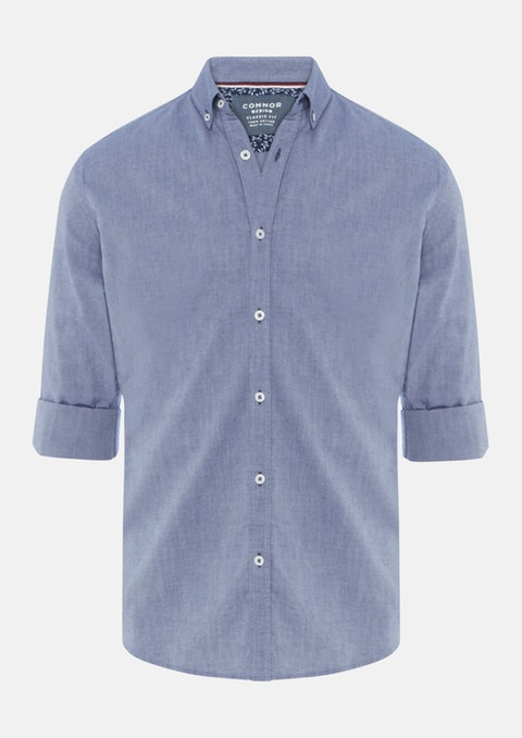 Navy Monty Casual Shirt