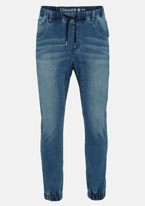 Blue Lakeman Denim Jogger