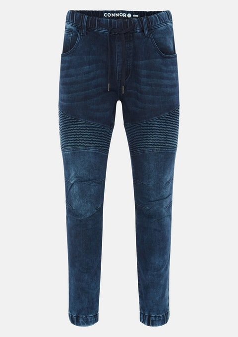 Blue Cyber Denim Jogger
