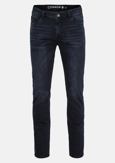 Dark Blue Cansen Slim Jean