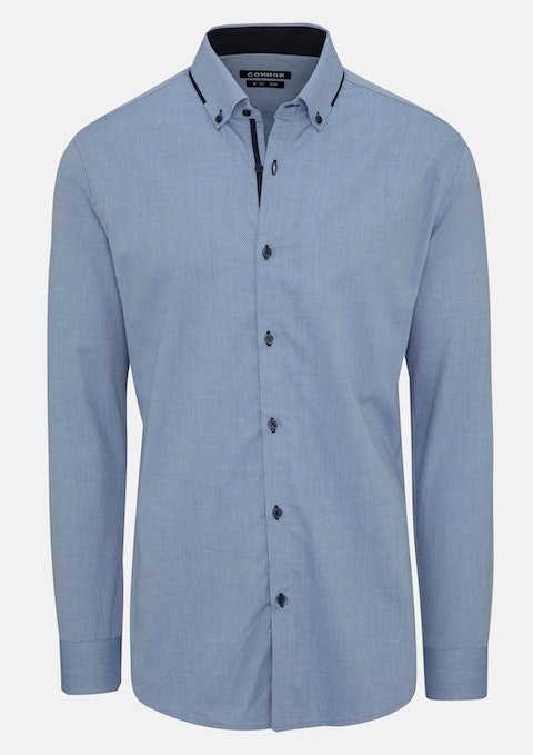 Blue Seth Slim Dress Shirt