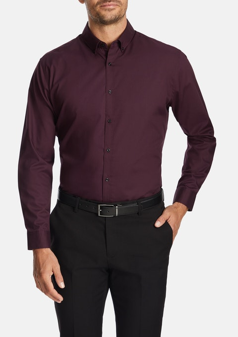 Wine Jackson Dress Shirt