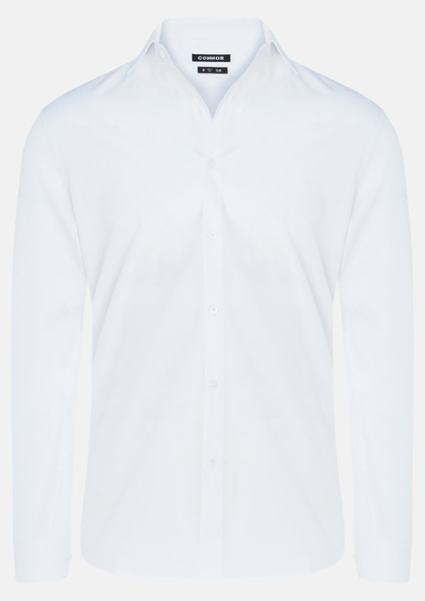 White Skyway Slim Dress Shirt