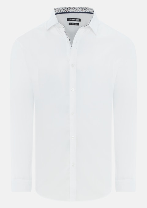 White Murdoch Slim Dress Shirt