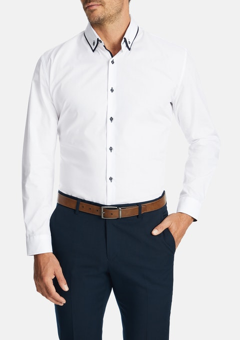 White Flotus Dress Shirt