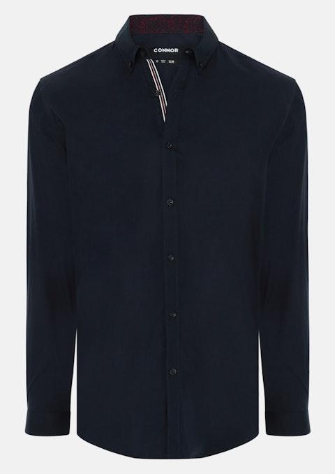 Navy Craven Slim Dress Shirt
