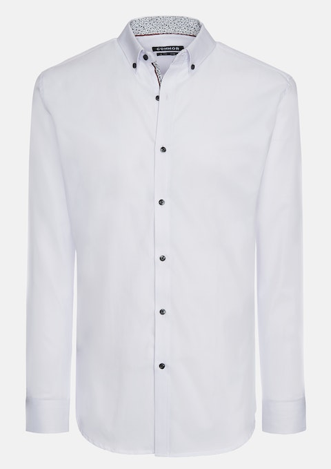White Daintree Slim Dress Shirt