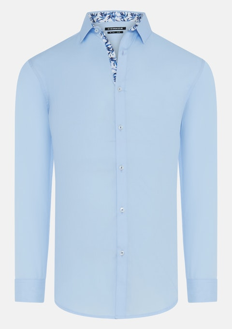 Light Blue Loma Slim Dress Shirt