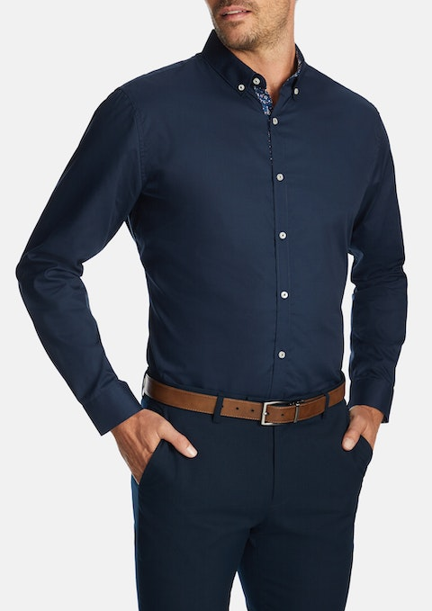 Navy Manilow Dress Shirt