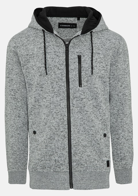 Grey Chingford Sweat Hoodie