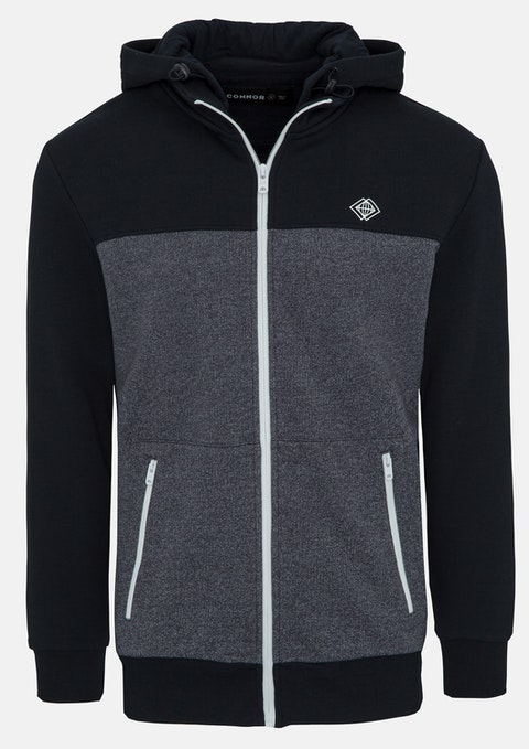 Navy Farringdon Sweat Jacket