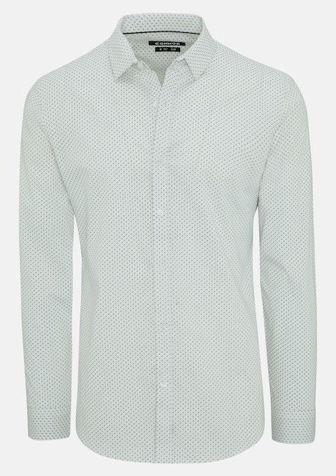 White Jarred Slim Stretch Shirt