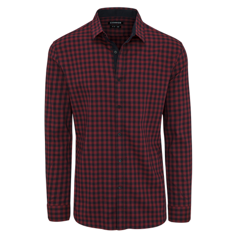 Red Remy Slim Stretch Shirt by Connor