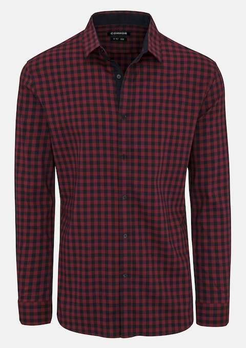 Red Remy Slim Stretch Shirt
