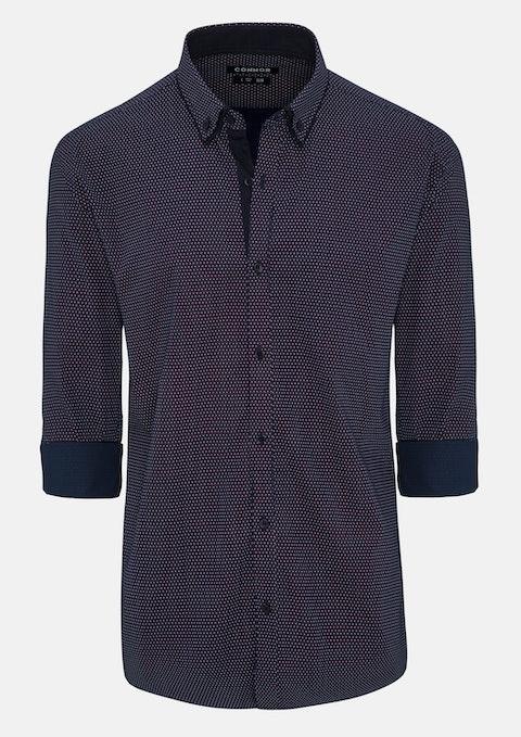 Navy Reeves Slim Shirt