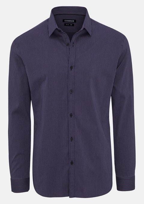 Grape Sheldon Slim Stretch Shirt