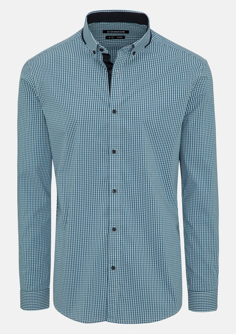 Turquoise Onslow Stretch Shirt